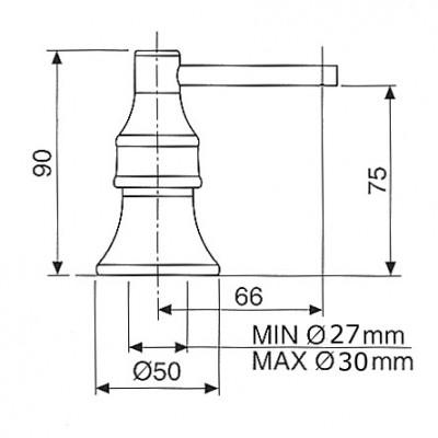 Nostalgische zeepdispenser Brons V222BR