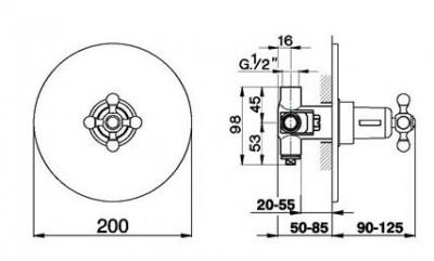 Cisal Arcana Ceramic afdekset inbouwthermostaat brons AC001800027