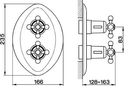 Cisal Arcana Ceramic afdekset Inbouw Thermostaat rvs AC0030002A