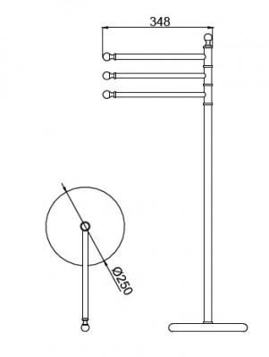 Huber Croisette Klassiek Handdoekhouder staand model Chroom 4042.01H.CR
