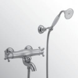 Huber Victorian Thermostatische Badkraan met douchegarnituur Brons 193.VT01H.BA