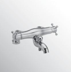 Huber Victorian Thermostatische Badkraan voor badrandmontage RVS 252C.01H.NS
