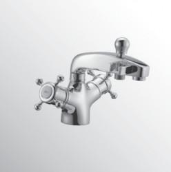 Huber Victorian Thermostatische Badkraan voor badrandmontage Brons 107.VT01H.BA