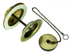 Cisal wastafelplug met stopketting brons ZA00160027