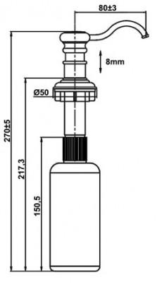 Rubio Nostalgia klassieke zeepdispenser volledig roestvrijstaal RB014745