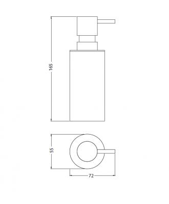 Waterevolution Deep zeepdispenser vrijstaand chroom A12501