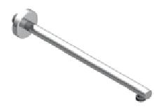Zazzeri douchearm 355 mm chroom 3600BR01A00CRCR