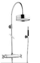 Zazzeri thermostatische inbouwdoucheset met hoofddouche en handdouche chroom 1208849792