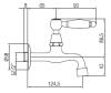 Klassieke muur fonteinkraan met witte hendel koud water chroom 1208853472