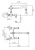 Klassieke kraan opbouw muurkraan met Witte hendels Chroom 1208854172