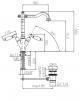 Klassieke kraan Opbouw keukenkraan Witte hendels Brons 1208854302