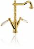 Klassieke kraan Opbouw keukenkraan Witte hendels RVS 1208854312
