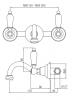 Klassieke kraan Opbouw muurkraan Witte hendels Brons 1208854332