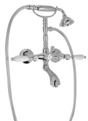Klassieke kraan opbouw badkraanset met witte hendels Brons 1208854422
