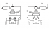 Klassieke kraan inbouw doucheset met witte hendels Chroom 1208854562