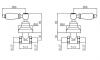 Klassieke kraan inbouw doucheset met witte hendels Brons 1208854572