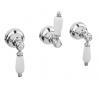 Klassieke kraan inbouw doucheset 2 weg omsteller met witte hendels Brons 1208854602