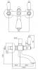Klassieke kraan opbouw badkraan met witte hendel Chroom 1208854682