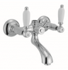 Klassieke kraan opbouw badkraan met witte hendel RVS 1208854702