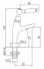 Klassieke fonteinkraan met witte hendel koud water klein model RVS 1208854912