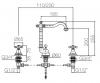 Klassieke 3 gats wastafelkraan sterknoppen uitloop 18,5 cm RVS 1208854952