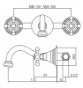 Klassieke kraan inbouw muurkraan met sterknoppen 16 cm uitloop Chroom 1208855042