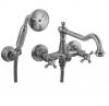 Klassieke kraan opbouw badkraanset met sterknoppen inclusief handdouche RVS 1208855262