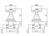 Klassieke kraan inbouw doucheset met sterknoppen Chroom 1208855332
