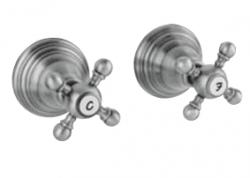 Klassieke kraan inbouw doucheset met sterknoppen RVS 1208855352