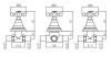 Klassieke kraan inbouw doucheset 2 weg omsteller met sterknoppen Chroom 1208855362