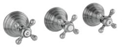 Klassieke kraan inbouw doucheset 2 weg omsteller met sterknoppen Brons 1208855372