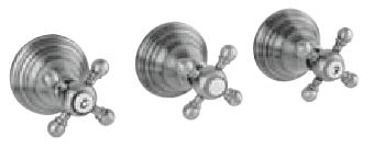 Klassieke kraan inbouw doucheset 2 weg omsteller met sterknoppen RVS 1208855382