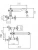PB klassieke opbouw muurkraan sterknoppen uitloop 23.5 cm RVS 1208855432