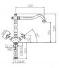 Klassieke keukenkraan sterknoppen uitloop 235 mm Chroom 1208855472