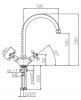 Klassieke keukenkraan sterknoppen uitloop 190 mm Brons 1208855512