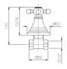 Klassieke kraan inbouw stopkraan met sterknop Chroom 1208855562