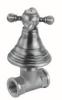Klassieke kraan inbouw stopkraan met sterknop Brons 1208855572