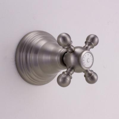 PB klassieke kraan inbouw stopkraan met sterknop RVS 1208855582
