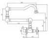 Klassieke inbouw muur fonteinkraan met sterknop koud water en lange draaibare uitloop brons 1208855722