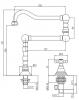 Klassieke fonteinkraan met sterknop koud water en lange draaibare uitloop chroom 1208855742