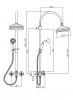 Klassieke Doucheset opbouw sterknoppen met regendouche telescopische douchekolom RVS 1208855942