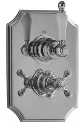 PB classic klassieke nostalgische Inbouw thermostaat met omsteller chroom 1208953839