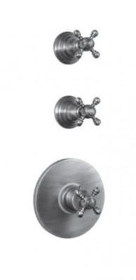 PB Classic nostalgische Inbouw douche thermostaat met 2 stopkranen chroom