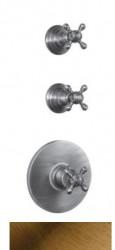 PB Classic nostalgische Inbouw douche thermostaat met 2 stopkranen brons
