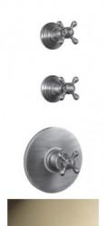 PB Classic nostalgische Inbouw douche thermostaat met 2 stopkranen RVS-look